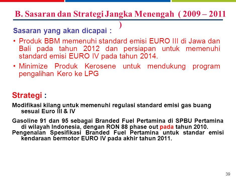 C. Sasaran dan Strategi Jangka Panjang ( 2012 – 2014 )