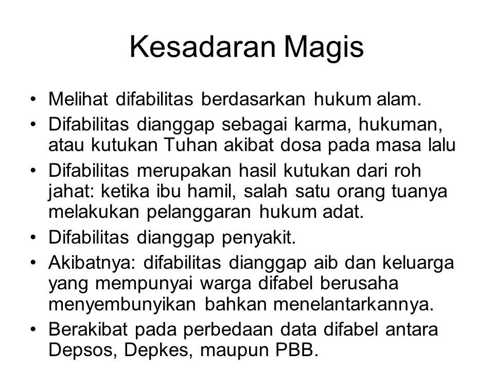 Kesadaran Magis Melihat difabilitas berdasarkan hukum alam.