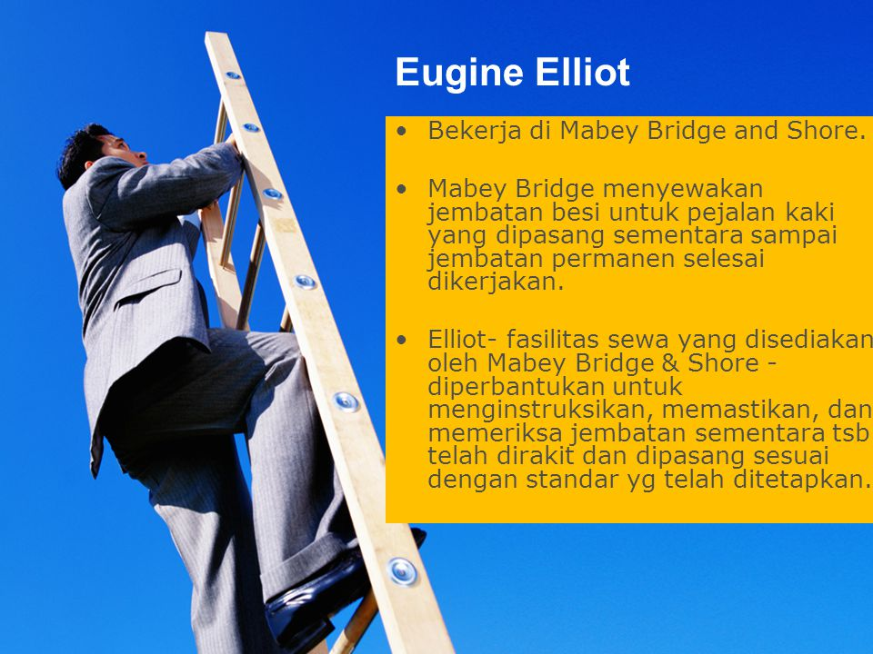 Print master Eugine Elliot Bekerja di Mabey Bridge and Shore.