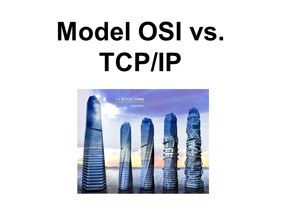 Model OSI vs. TCP/IP