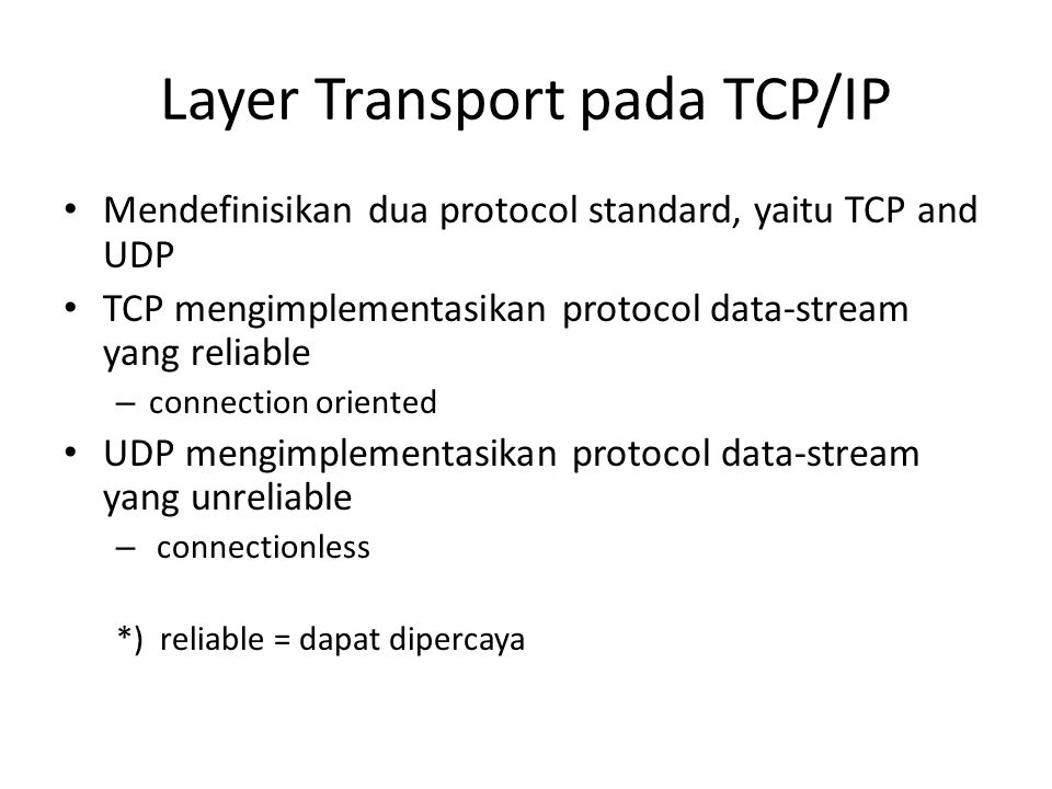 Layer Transport pada TCP/IP