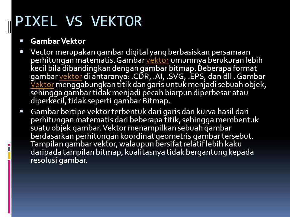 PIXEL VS VEKTOR Gambar Vektor