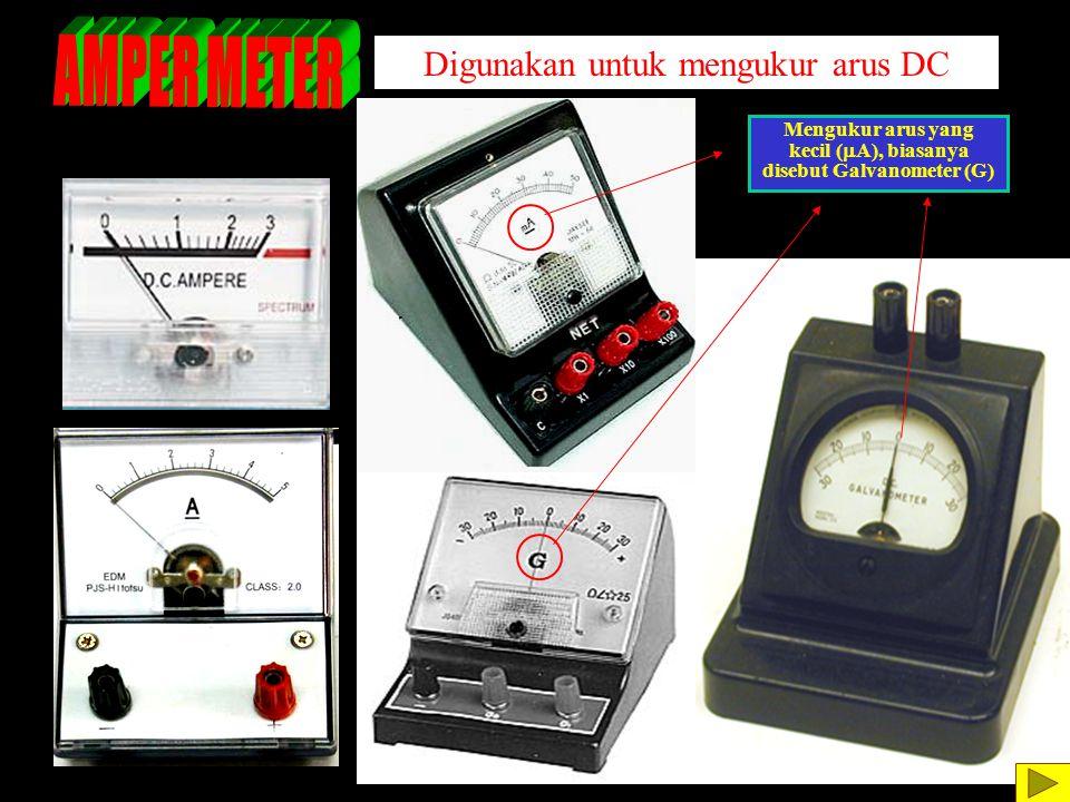 kecil (mA), biasanya disebut Galvanometer (G)