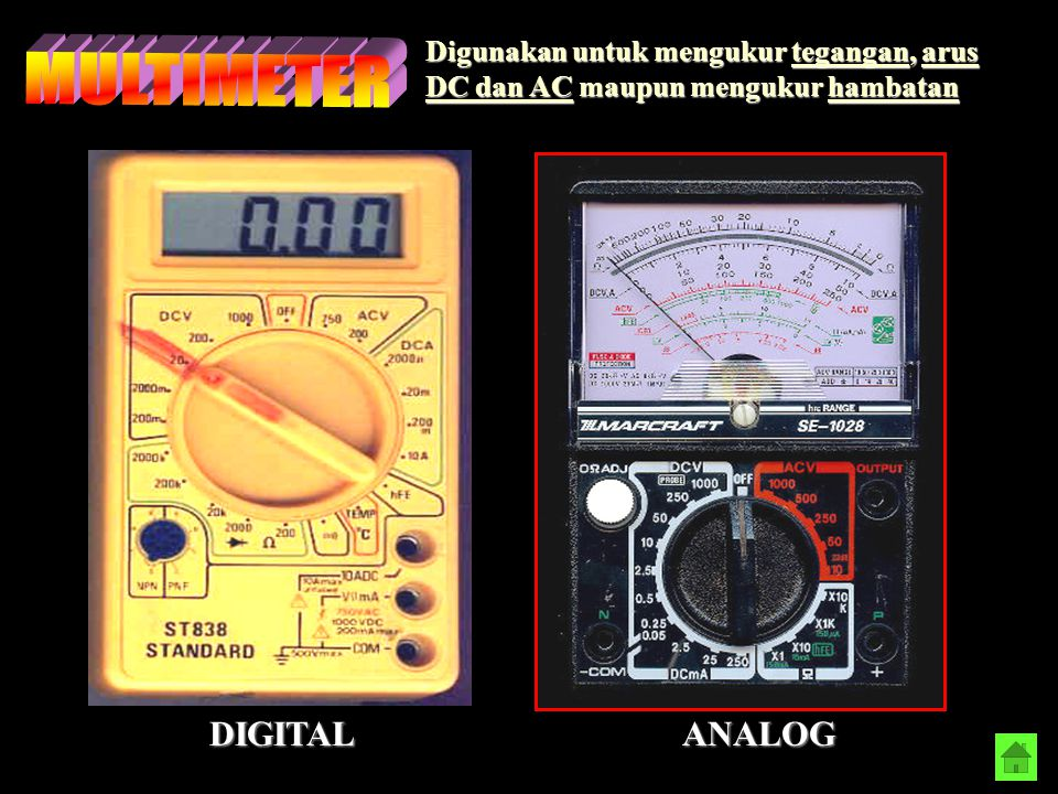 MULTIMETER DIGITAL ANALOG