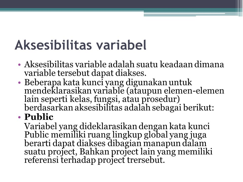 Aksesibilitas variabel
