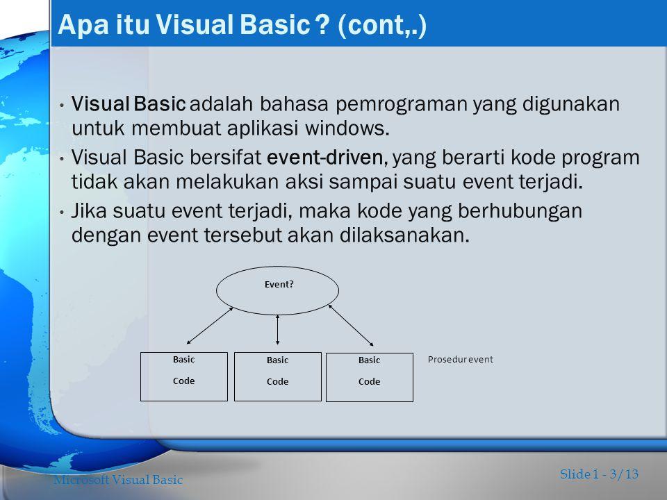 Apa itu Visual Basic (cont,.)