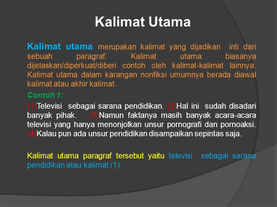 Kalimat Utama