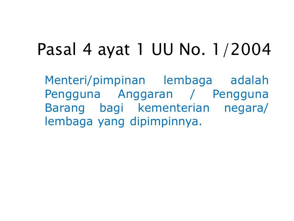 Pasal 4 ayat 1 UU No.