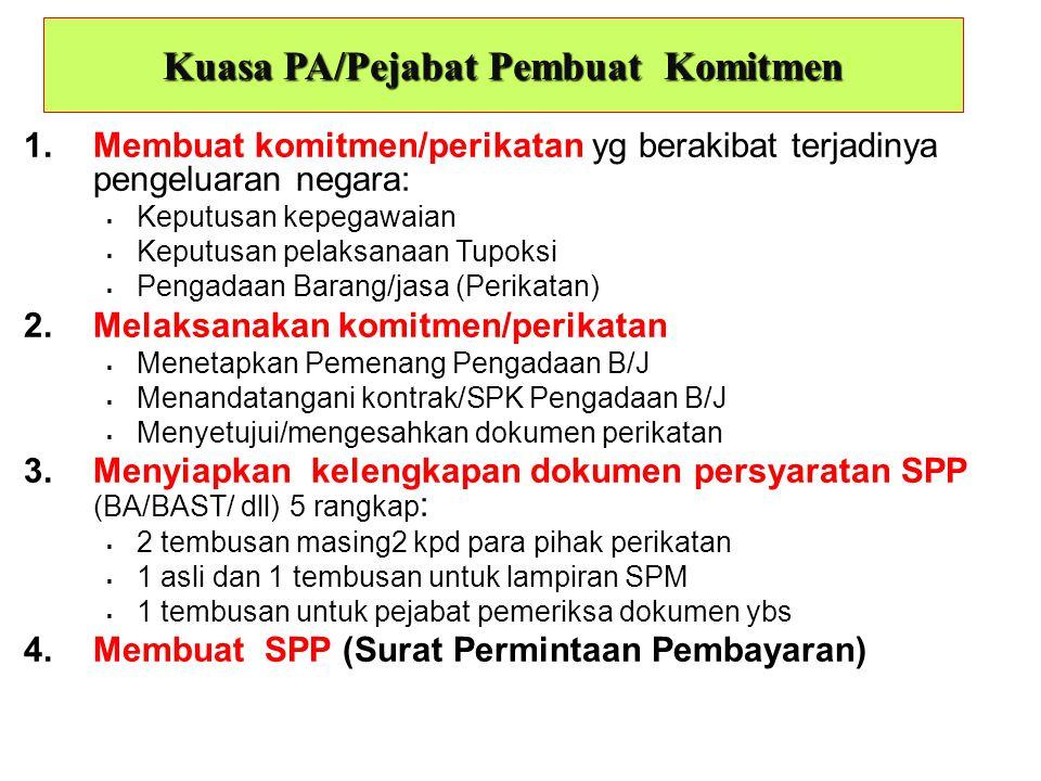 Kuasa PA/Pejabat Pembuat Komitmen
