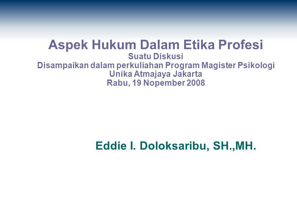 Eddie I. Doloksaribu, SH.,MH.