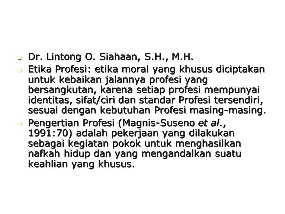 Dr. Lintong O. Siahaan, S.H., M.H.