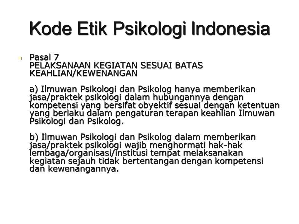 Kode Etik Psikologi Indonesia