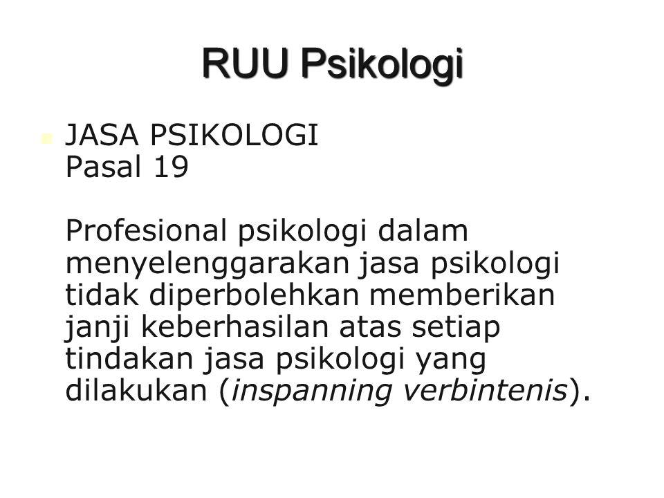 RUU Psikologi