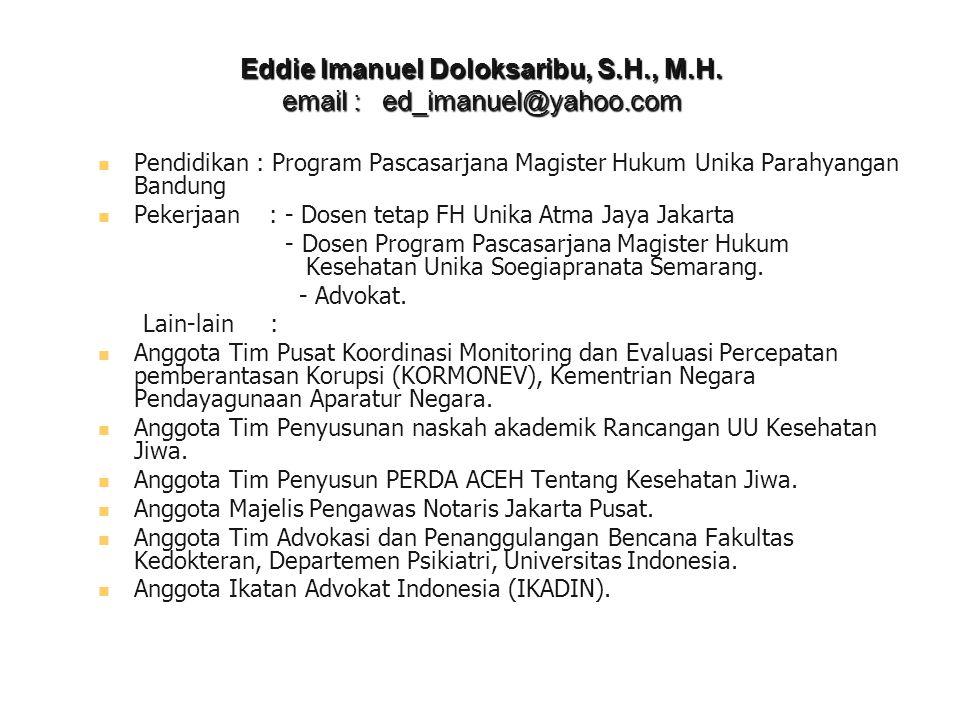 Eddie Imanuel Doloksaribu, S. H. , M. H