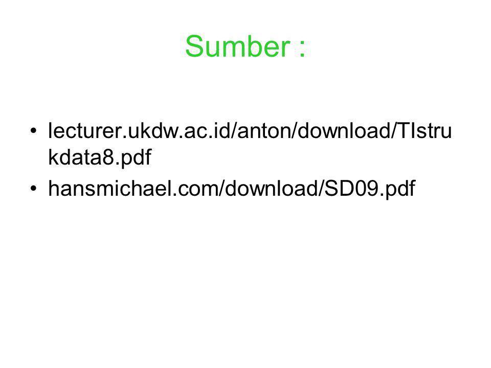 Sumber : lecturer.ukdw.ac.id/anton/download/TIstrukdata8.pdf