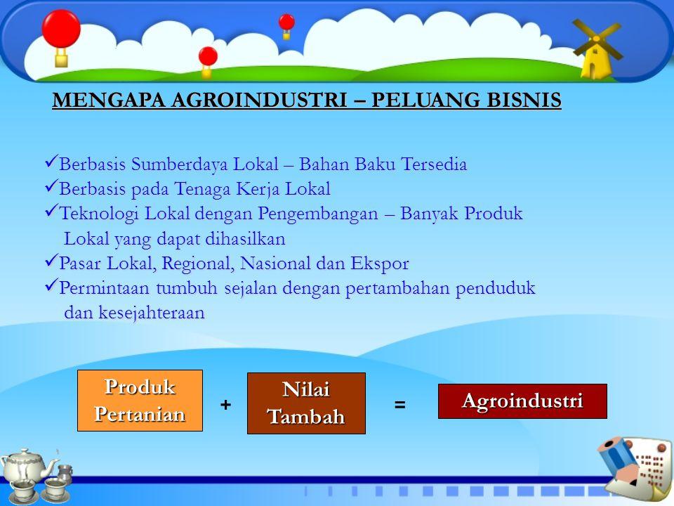 Produk Pertanian Nilai Tambah Agroindustri