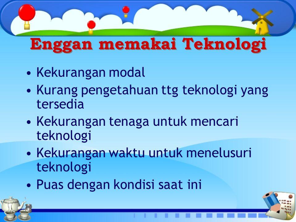 Enggan memakai Teknologi