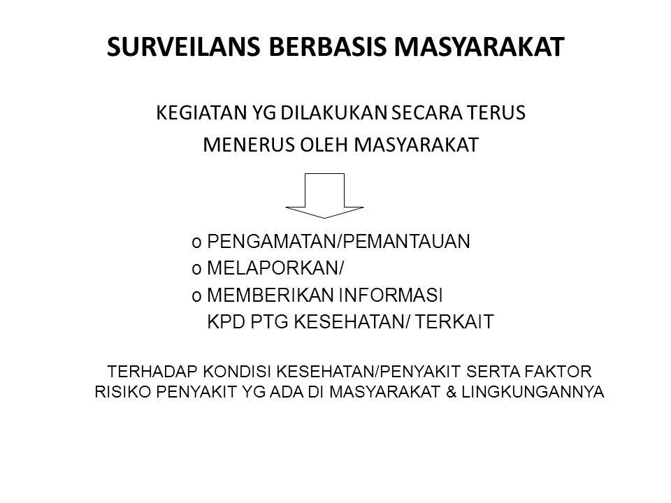 SURVEILANS BERBASIS MASYARAKAT