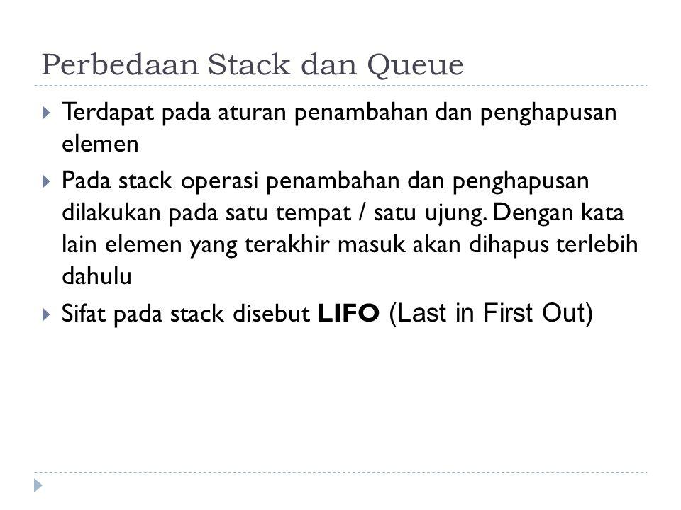 Perbedaan Stack dan Queue