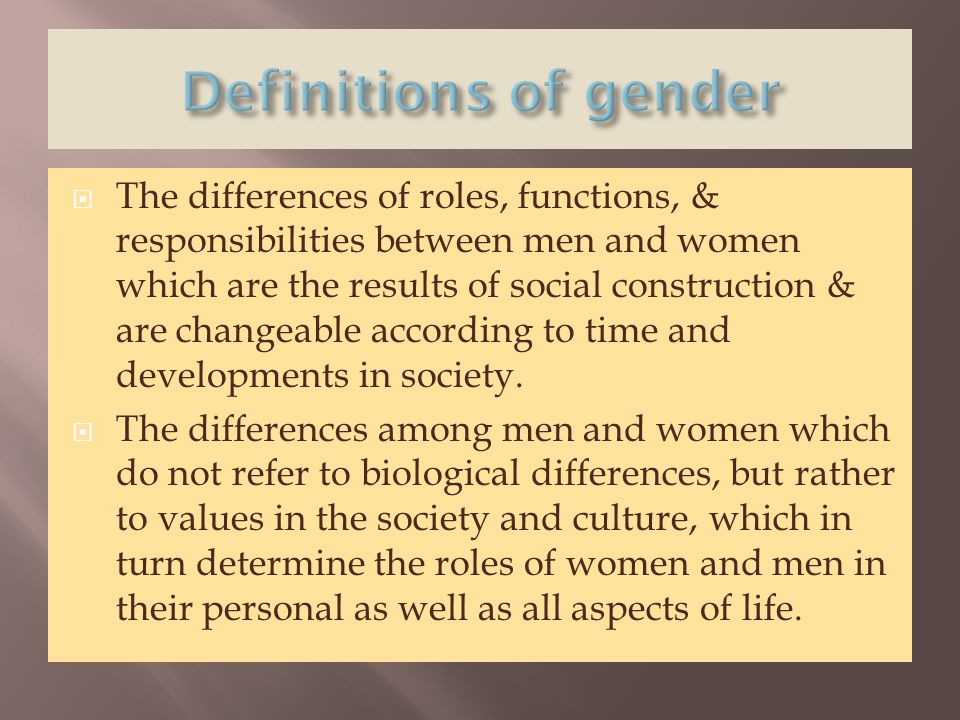 Definitions of gender