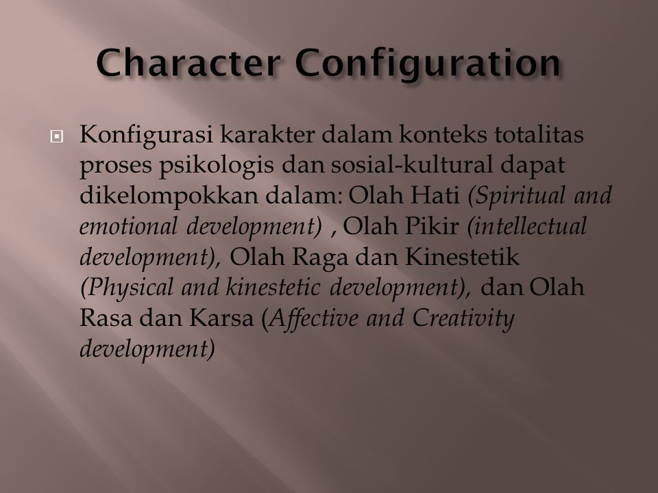 Character Configuration