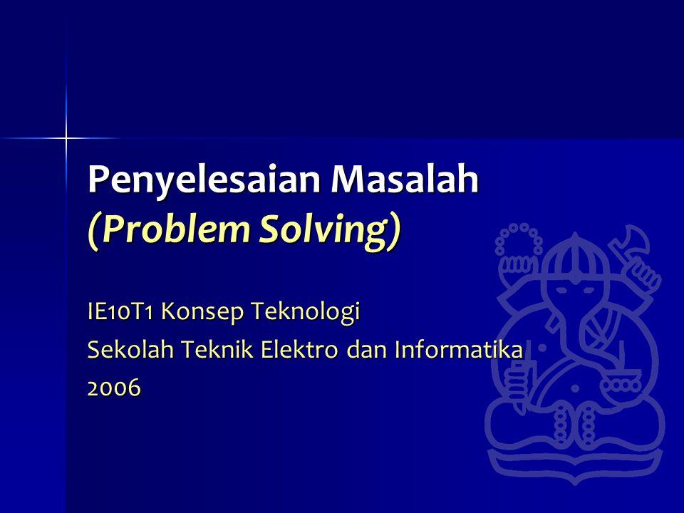 Penyelesaian Masalah (Problem Solving)