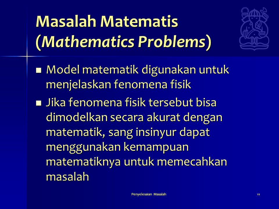 Masalah Matematis (Mathematics Problems)