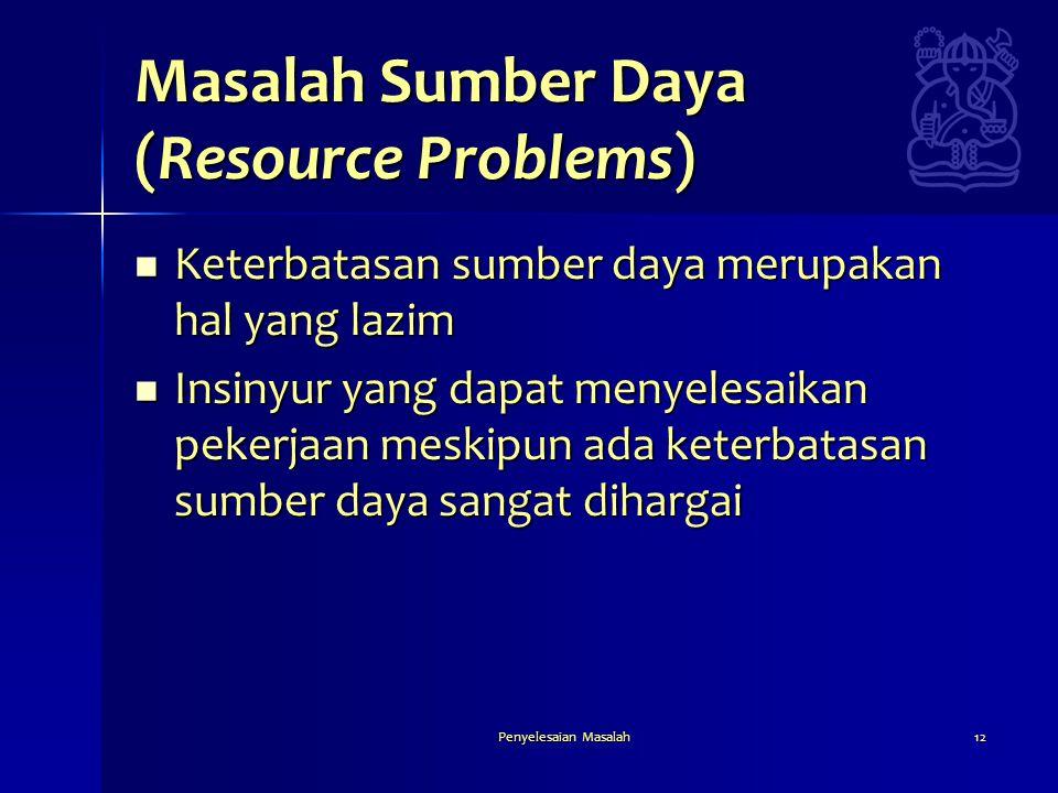 Masalah Sumber Daya (Resource Problems)