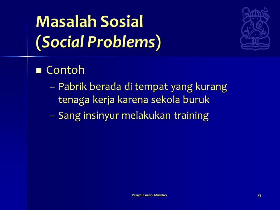 Masalah Sosial (Social Problems)