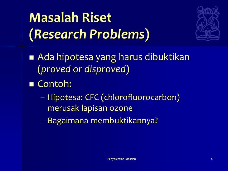 Masalah Riset (Research Problems)