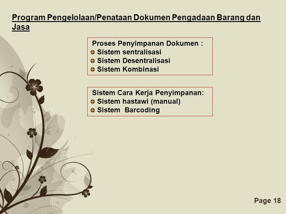 Program Pengelolaan/Penataan Dokumen Pengadaan Barang dan Jasa