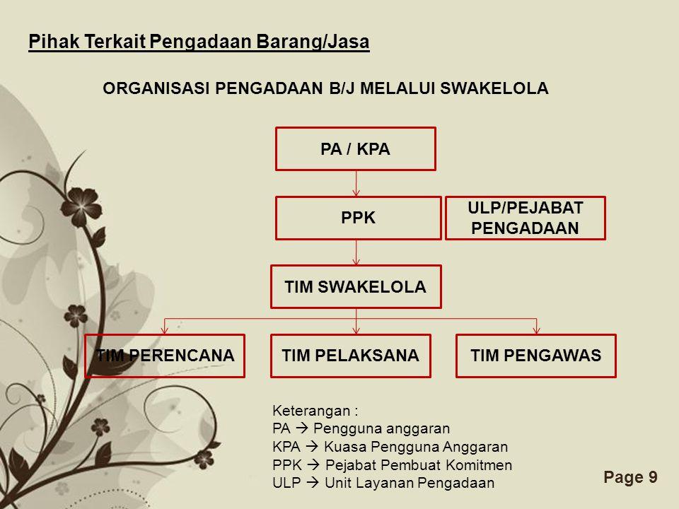 ULP/PEJABAT PENGADAAN