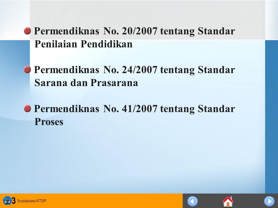 Permendiknas No. 20/2007 tentang Standar