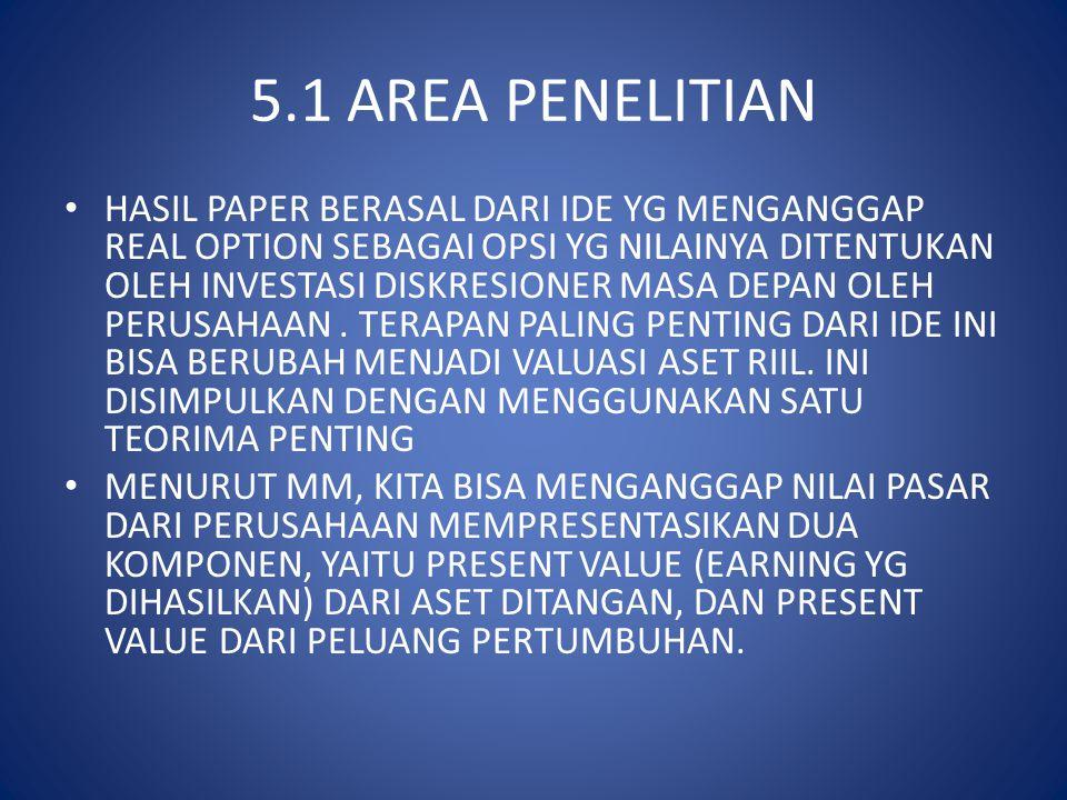 5.1 AREA PENELITIAN