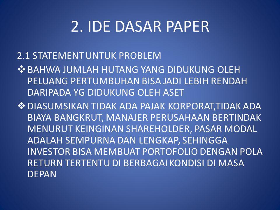 2. IDE DASAR PAPER 2.1 STATEMENT UNTUK PROBLEM
