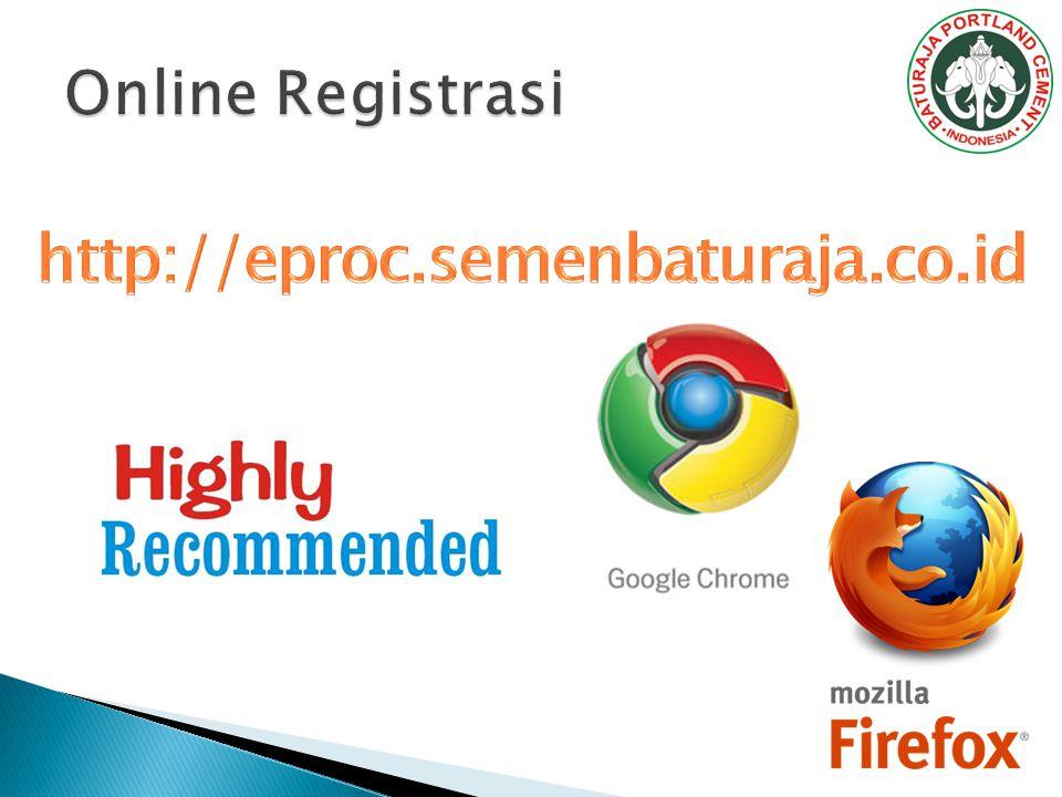 Online Registrasi http://eproc.semenbaturaja.co.id