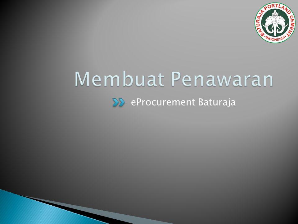 Membuat Penawaran eProcurement Baturaja