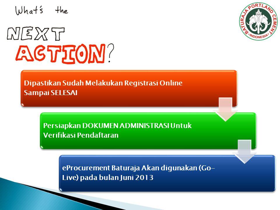 Dipastikan Sudah Melakukan Registrasi Online Sampai SELESAI