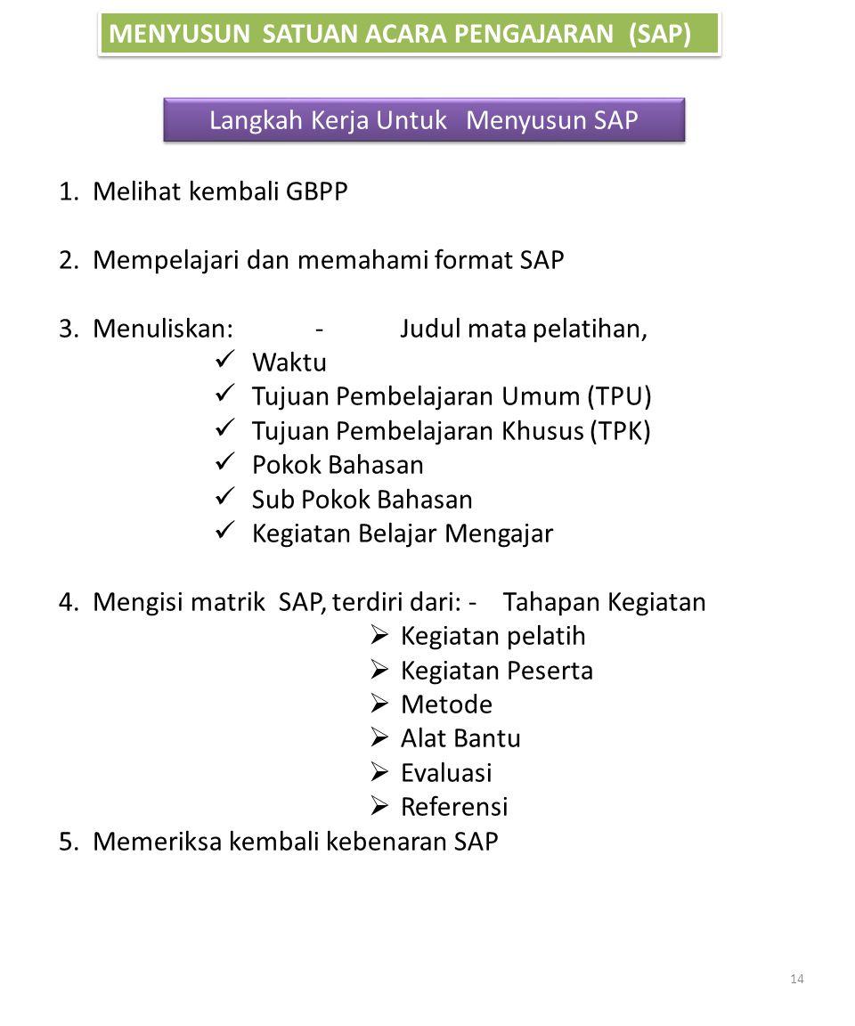 Langkah Kerja Untuk Menyusun SAP