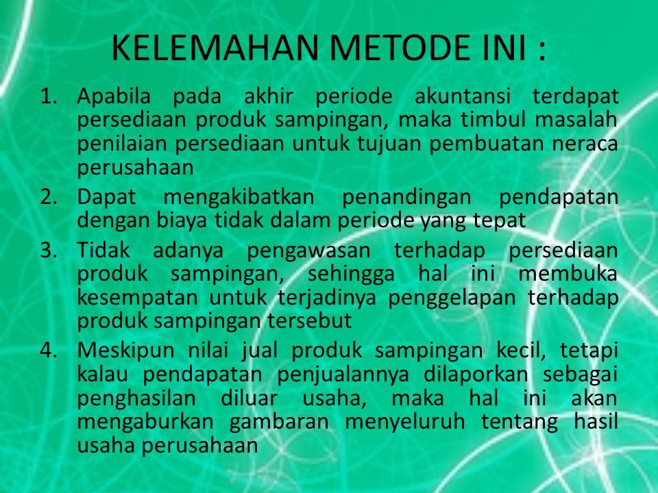 KELEMAHAN METODE INI :