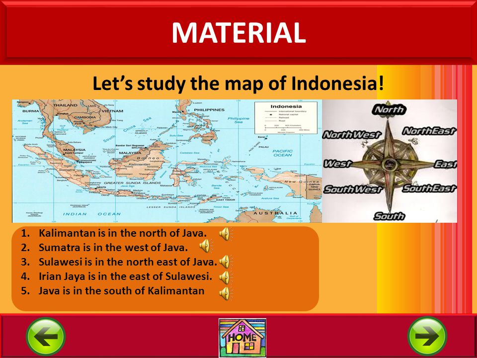 Let's study the map of Indonesia!