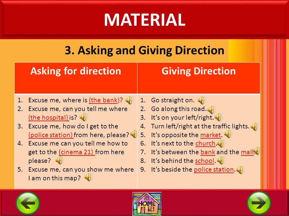 3. Asking and Giving Direction