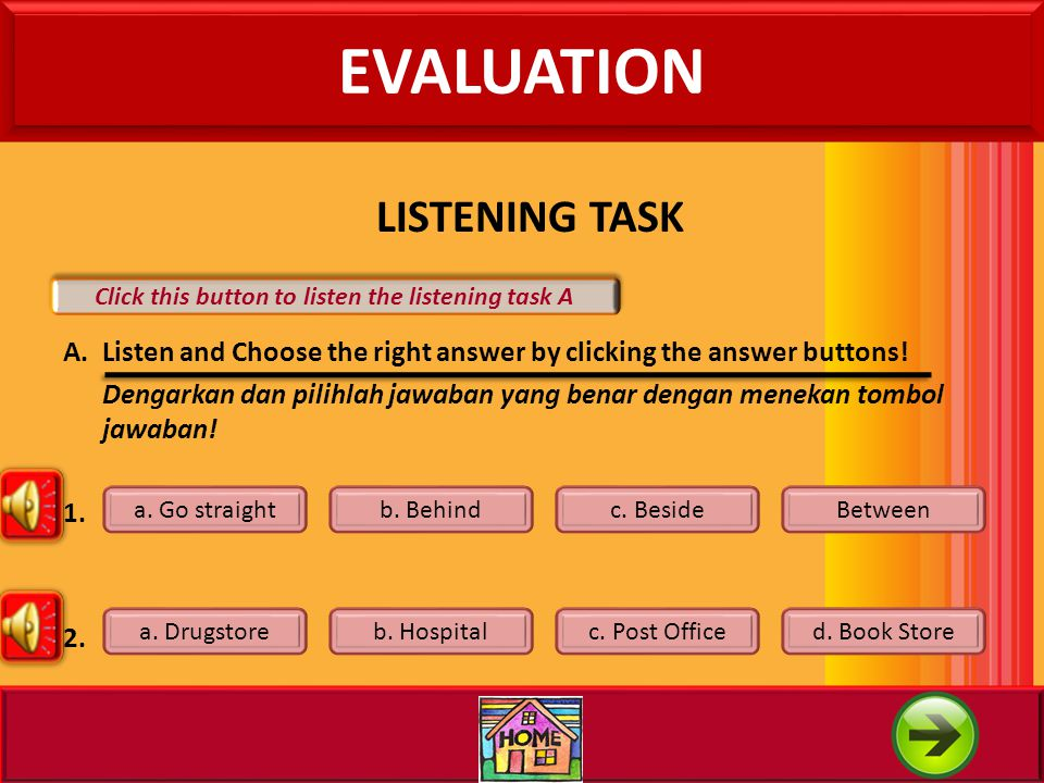 Click this button to listen the listening task A