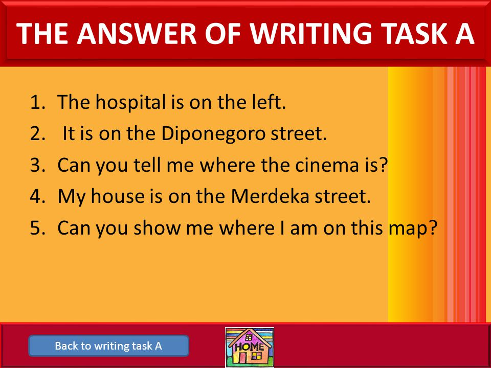 THE ANSWER OF WRITING TASK A