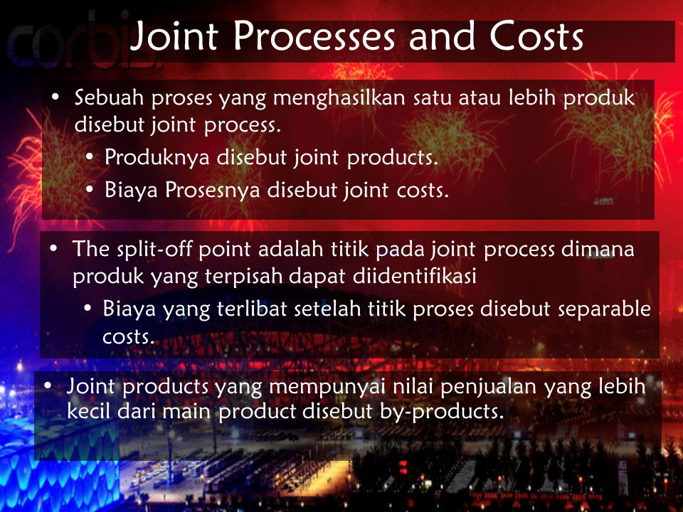 Joint Processes and Costs
