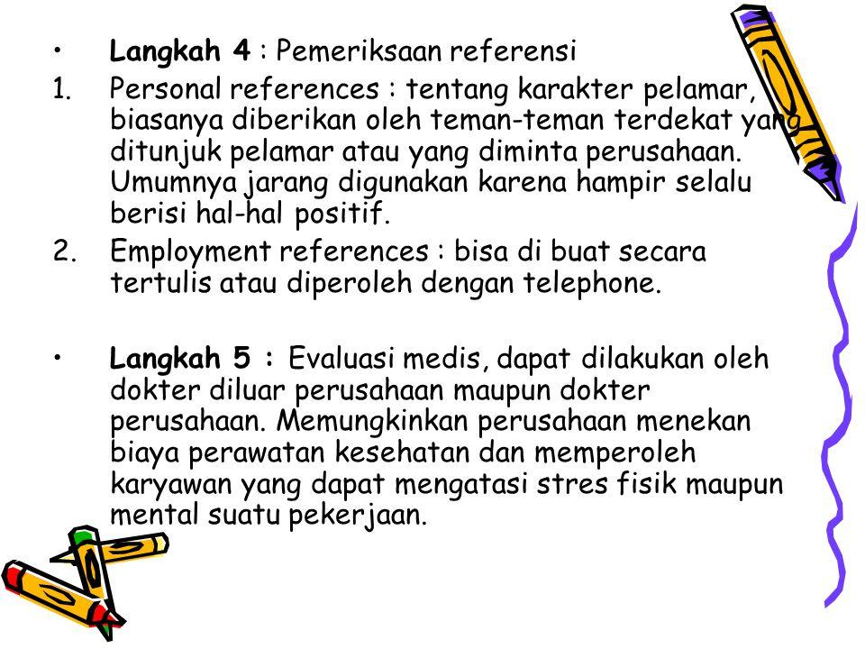 Langkah 4 : Pemeriksaan referensi