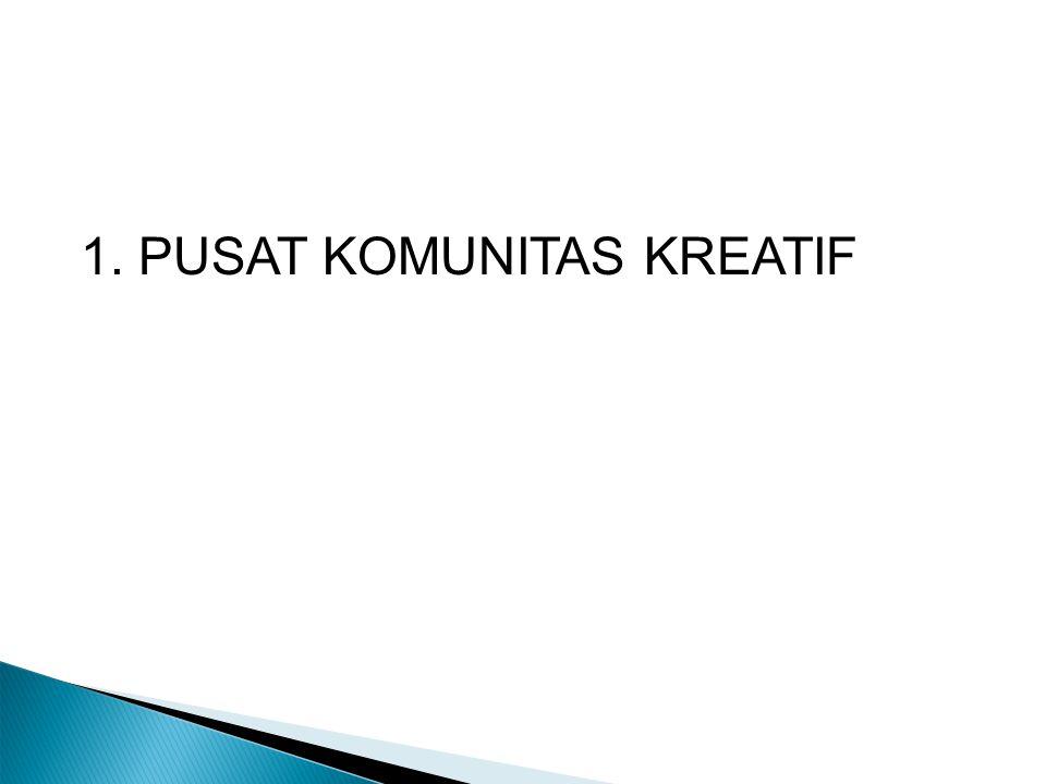 1. PUSAT KOMUNITAS KREATIF