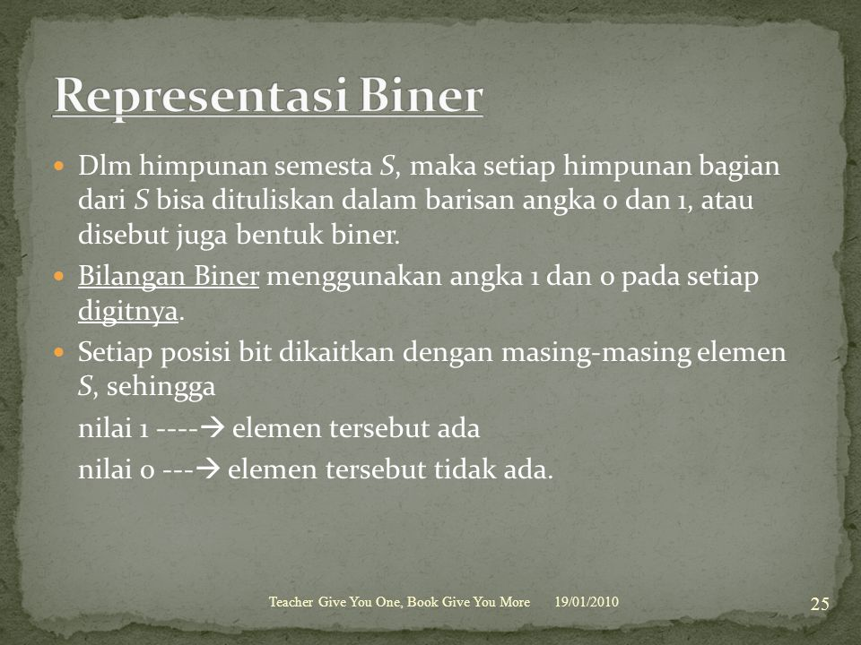 Representasi Biner
