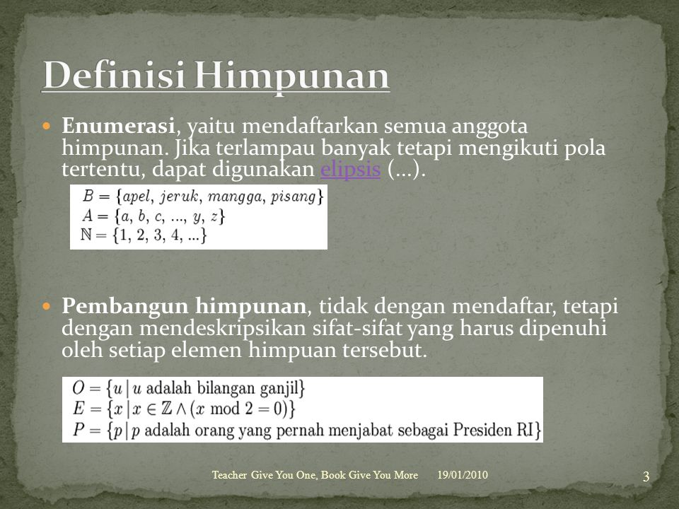 Definisi Himpunan