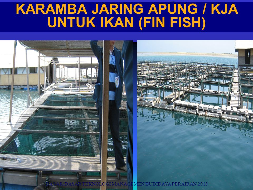 KARAMBA JARING APUNG / KJA UNTUK IKAN (FIN FISH)